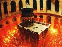 მაცხოვრის საფლავზე აღდგომის ცეცხლი გადმოვიდა