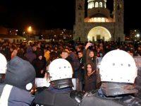 ჩერნოგორიაში პოლიციამ მრევლის წინააღმდეგ ცრემლსადენი გაზი გამოიყენა