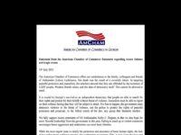 """ღია წერილი """"ამერიკის სავაჭრო პალატის"""" (AmCham) ა.წ. 13 ივლისის განცხადებასთან დაკავშირებით"""